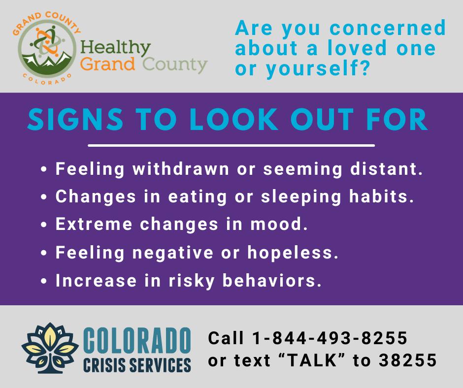 GCRHN Suicide Signs - Suicide Prevention